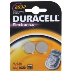 Piles bouton 2032 Duracell - 2 piles