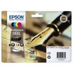 Pack 4 Cartouches T1626 Epson - 4 Couleurs - T16XL Stylo Plume