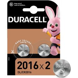 Piles bouton 2016 / 3V Duracell - 2 piles